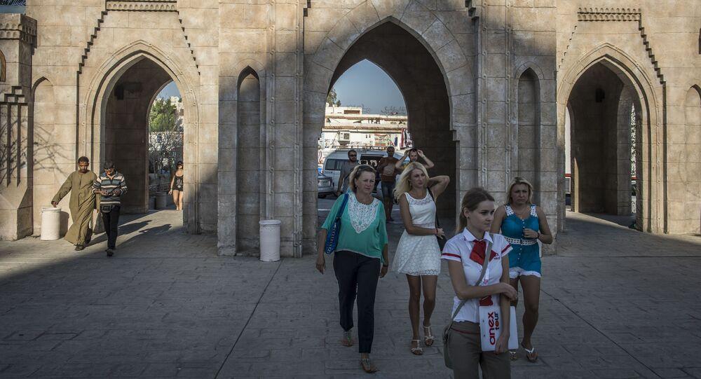 السياح الروس في شرم الشيخ