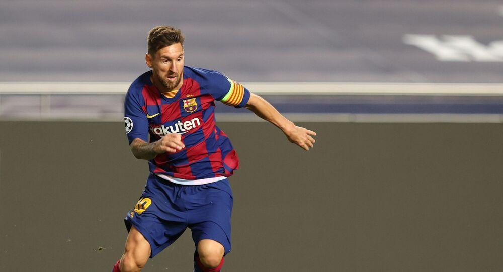 قائد فريق برشلونة الإسباني لكرة القدم، ليونيل ميسي