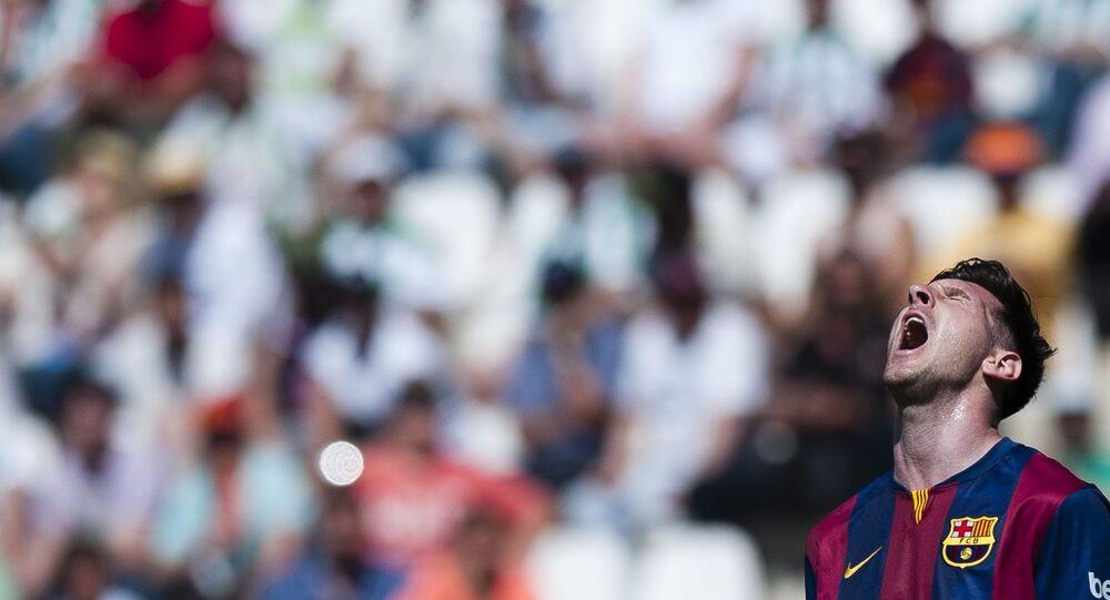 الأرجنتيني ليونيل ميسي، لاعب فريق نادي برشلونة في إسبانيا، 2015