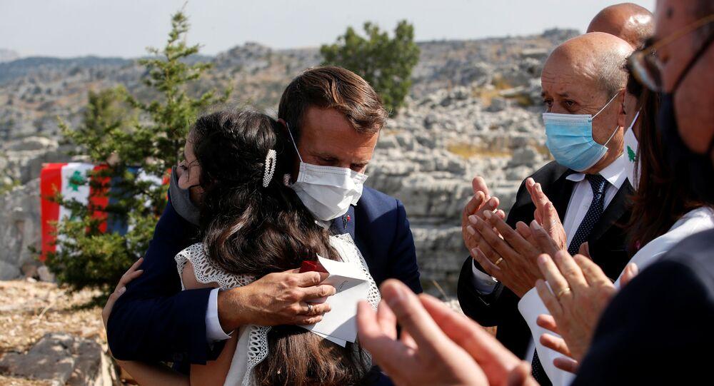 الرئيس الفرنسي إيمانويل ماكرون في بيروت، لبنان 1 سبتمبر 2020