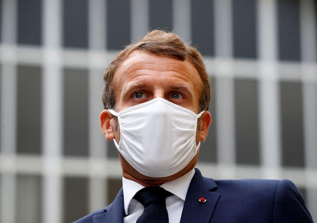 الرئيس الفرنسي إيمانويل ماكرون في باريس، فرنسا 28 أغسطس 2020