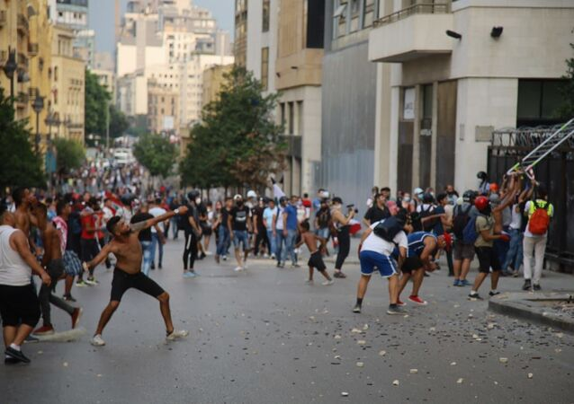 احتجاجات في بيروت، لبنان 1 سبتمبر 2020