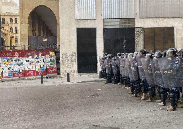 احتجاجات مناهضة للحكومة اللبنانية في مدينة بيروت، لبنان، 1 سبتمبر 2020