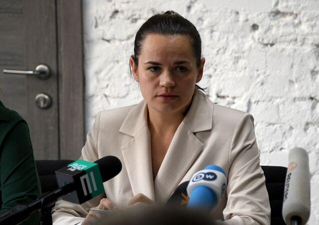 زعيمة المعارضة البيلاروسية، سفيتلانا تيخانوفسكايا