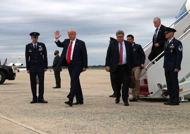 الرئيس الأمريكي دونالد ترامب يزور مقاطعة كينوشا، ولاية ويسكونسن، الولايات المتحدة، 1 سبتمبر 2020
