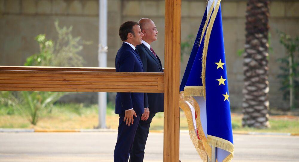 زيارة الرئيس الفرنسي إيمانويل ماكرون إلى بغداد، العراق 2 سبتمبر 2020