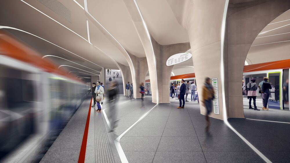 مشروع محطة مترو كلينوفي بولفار من شركة زها حديد أرخيتيكت للهندسة المعمارية