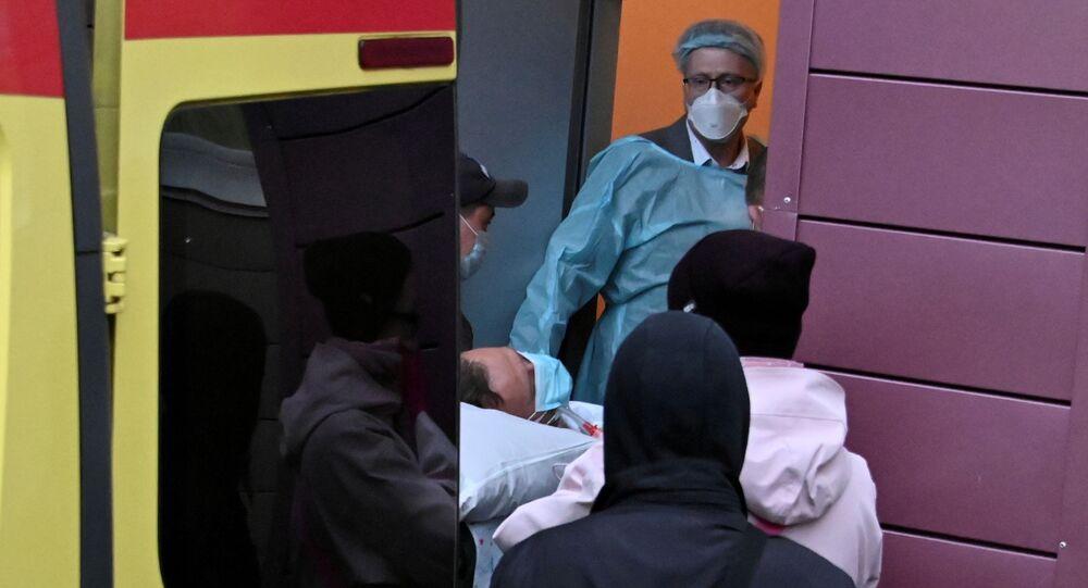 المعارض الروسي ألكسي نافالني في مشفى في برلين في ألمانيا