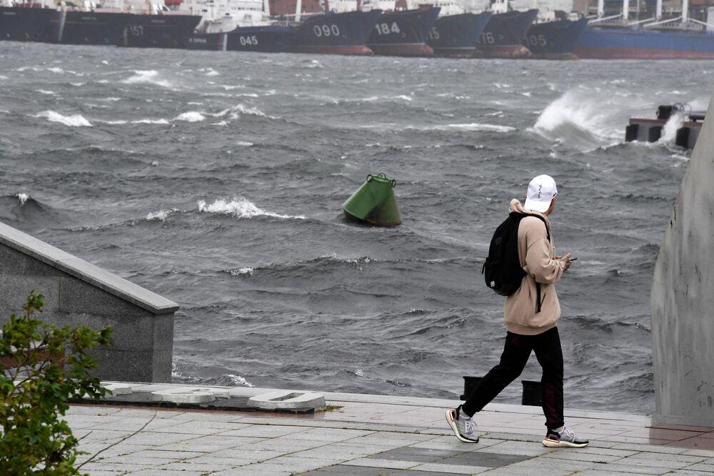 آثار إعصار مايساك في فلاديفوستوك، روسيا 3 سبمتبر 2020