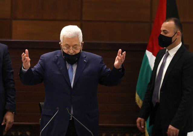الرئيس الفلسطيني محمود عباس، رام الله، الضفة الغربية، فلسطين 3 سبتمبر 2020