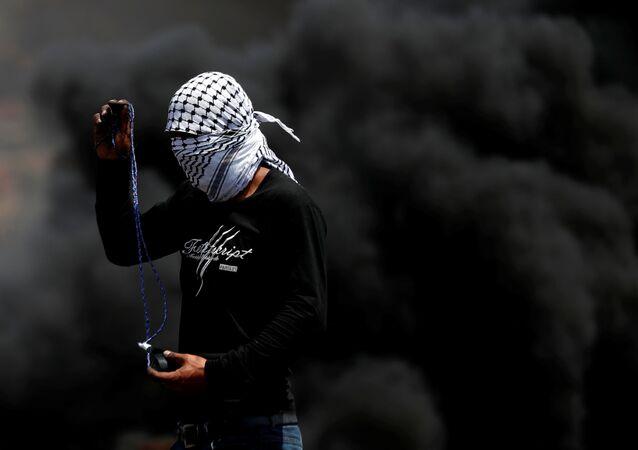 احتجاجات ضد بناء مستوطنات في كفر كدوم، الضفة الغربية 4 سبتمبر 2020
