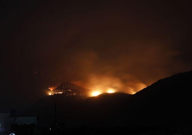 حريق غابات الساحل السوري، صلنفة 2020