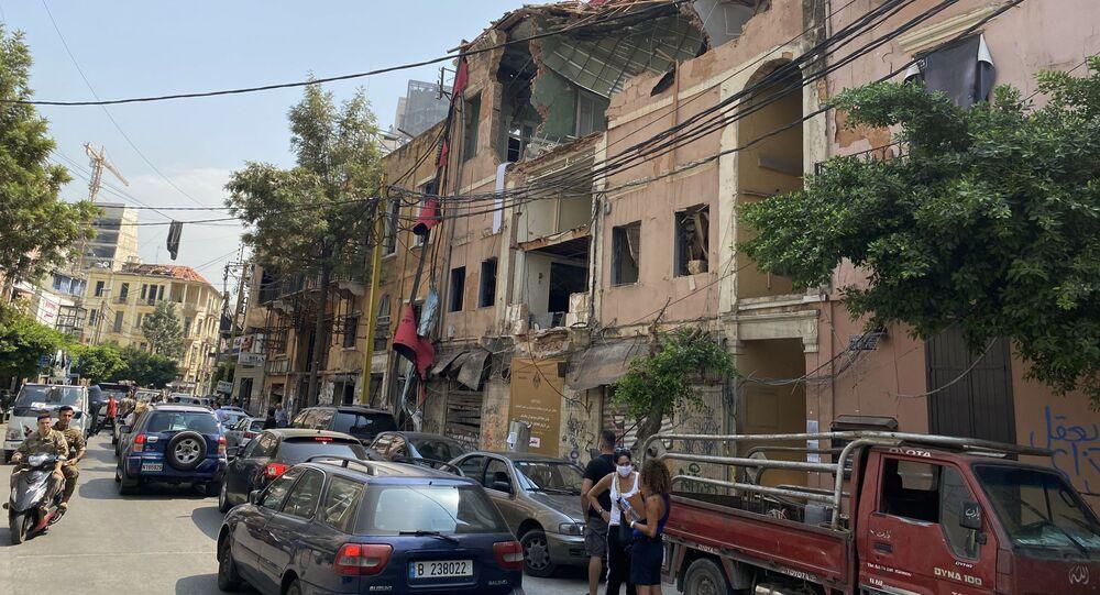 مباني مدمرة إثر انفجار مرفأ بيروت في حي جميزة، أحد أكثر الأحياء اكتظاظا في العاصمة، لبنان 4 سبتمبر 2020