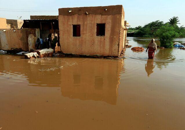 تداعيات فيضان مياه النيل الأزرق في منطقة أم درمان في السودان، 7 أغسطس 2020