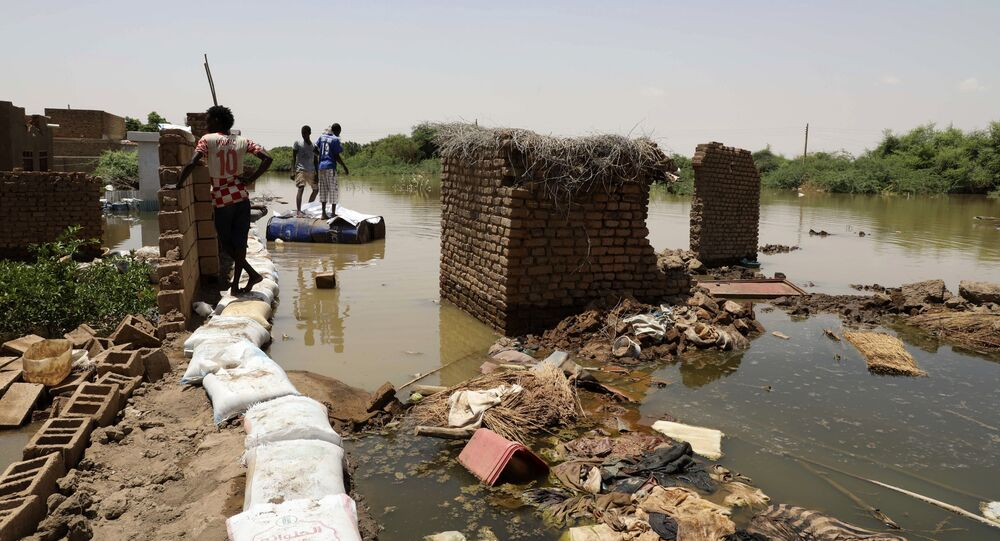 تداعيات فيضان مياه النيل الأزرق في منطقة أم درمان في السودان، 5 سبتمبر 2020