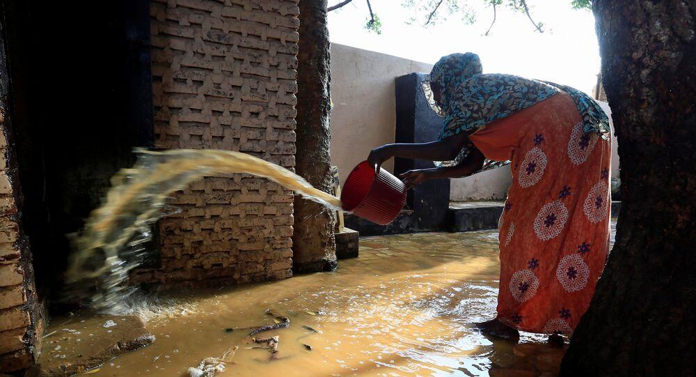 تداعيات فيضان مياه النيل الأزرق في منطقة أم درمان في السودان، 27 أغسطس 2020
