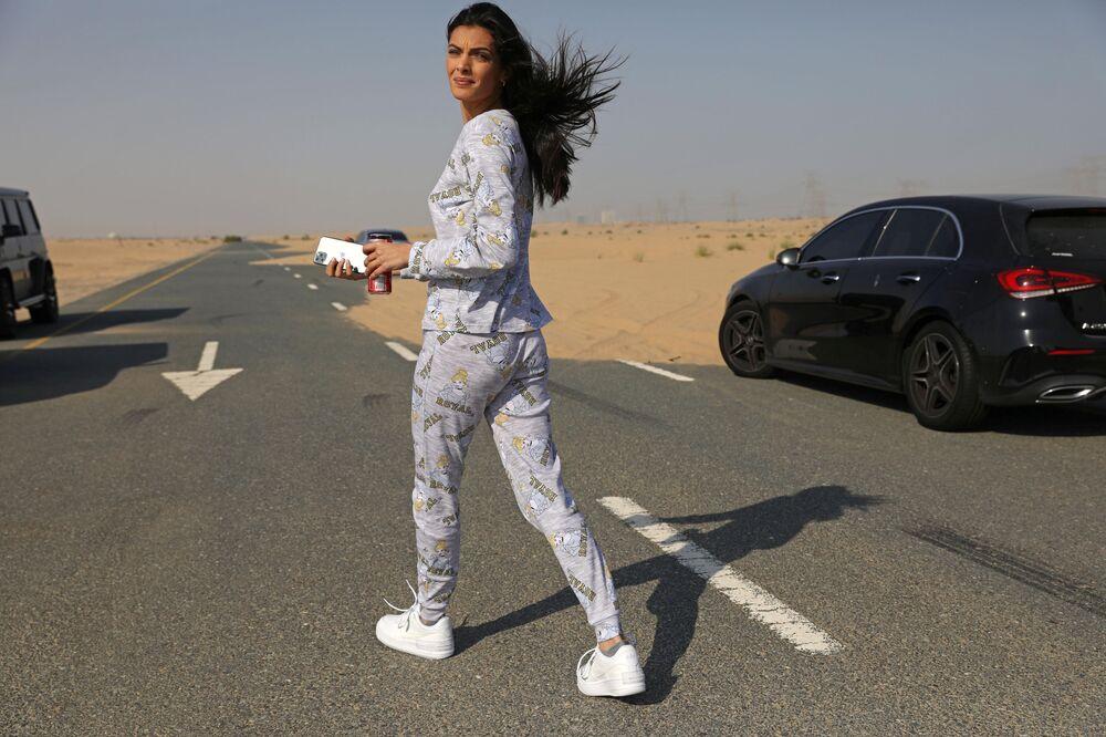 جلسة تصوير لمجموعة البيجاما للعلامة التجارية الإسرائيلية FIX's Princess Collection في دبي، الإمارات العربية المتحدة  8 سبتمبر  2020.