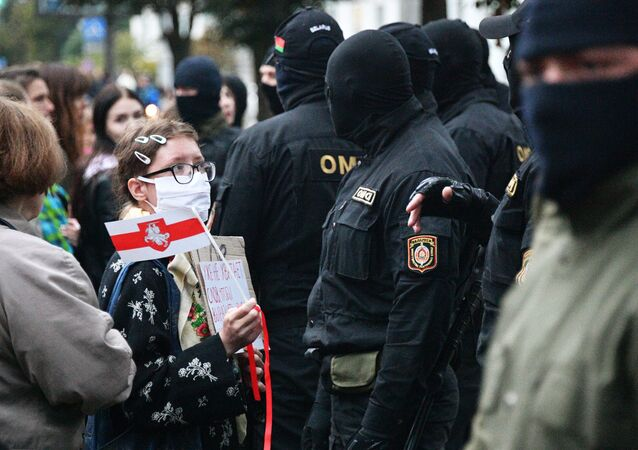 احتجاجات واعتقالات في مدينة مينسك، بيلاروسيا، 8 سبتمبر 2020