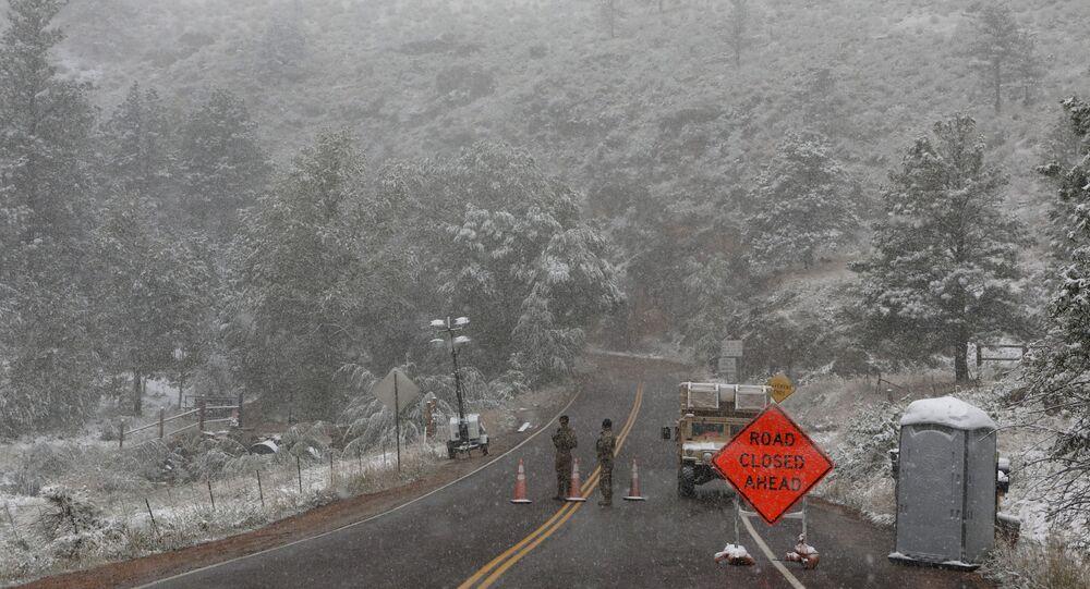 تغير المناخ المفاجئ في الولايات المتحدة - تساقط الثلوج في ولاية كولورادو، 8 سبتمبر 2020