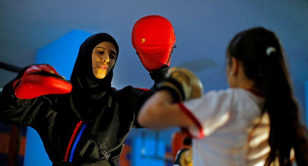 الملاكمة اليمنية سهام عامر، صنعاء 1 سبتمبر 2020