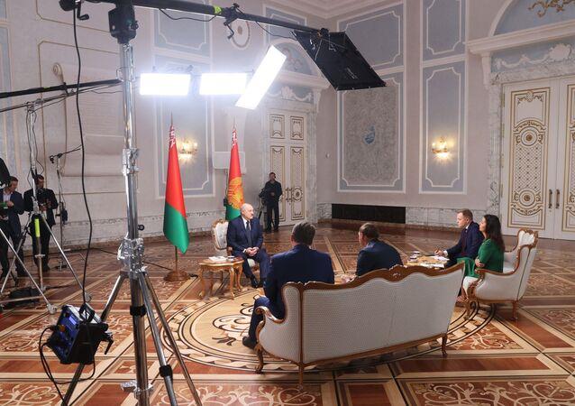 مقابلة مع رئيس بيلاروسيا، ألكسندر لوكاشينكو، في مينسك، 9 سبتمبر 2020