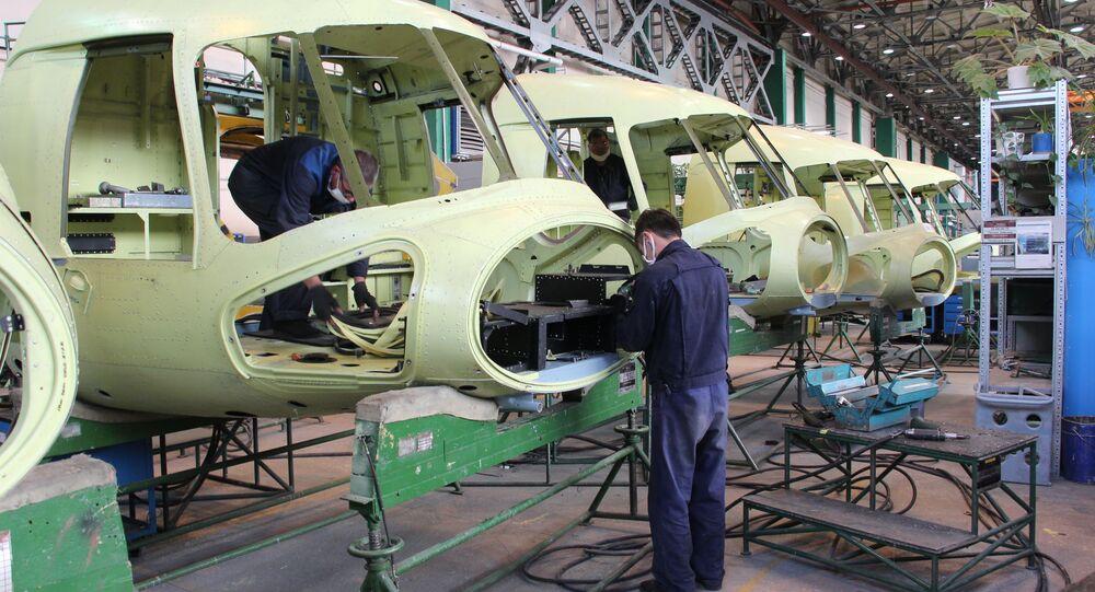 مصنع مروحيات روسيا في أولان أودي، روسيا