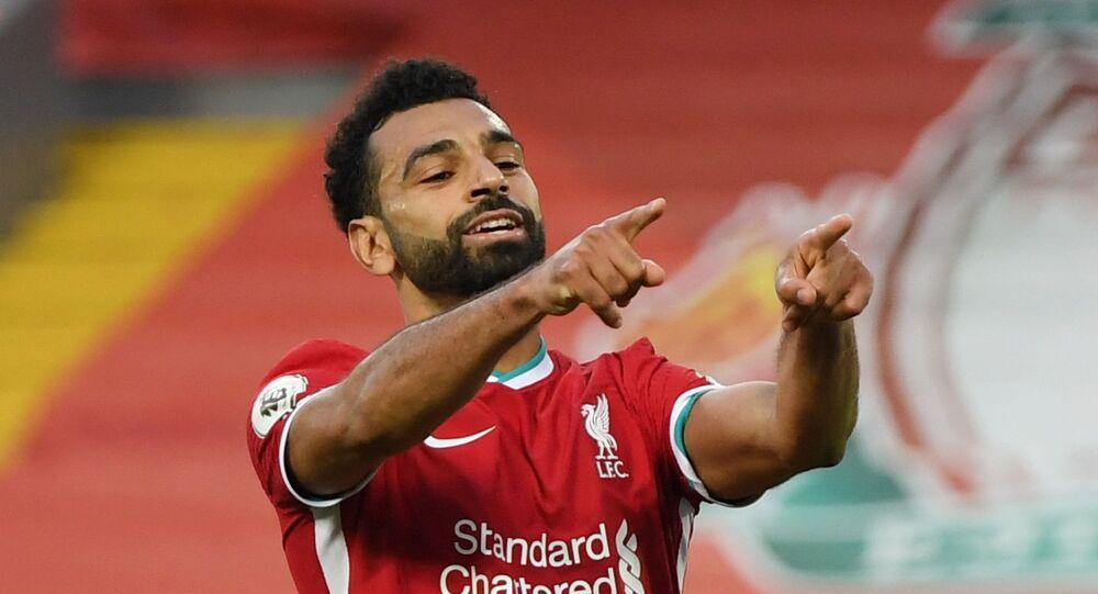 محمد صلاح في مباراة ليفربول وليدز، 12 سبتمبر/ أيلول 2020
