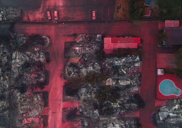 آثار حرائق الغابات في مدينة تالنت في ولاية أوريغون، الولايات المتحدة 13 سبتمبر 2020
