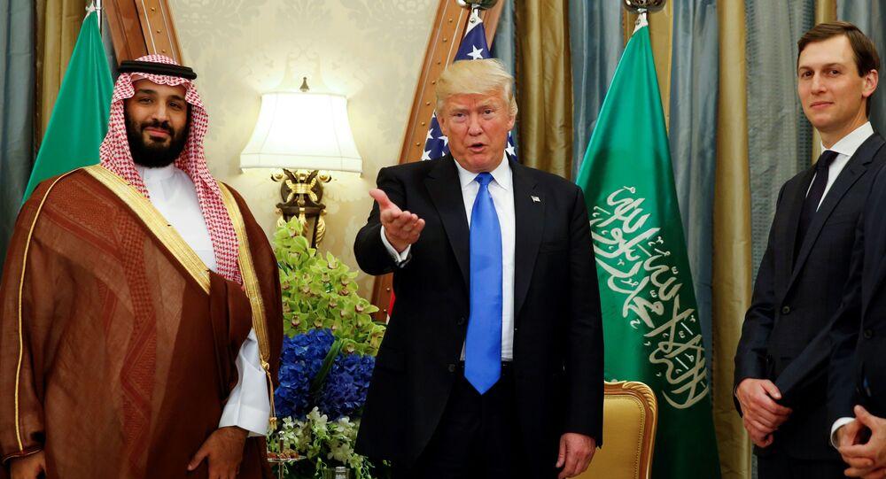 صورة أرشيفية تعبيرية  - الرئيس الأمريكي دونالد ترامب يلتقي مع الأمير محمد بن سلمان في الرياض، السعودية 20 مايو 2017