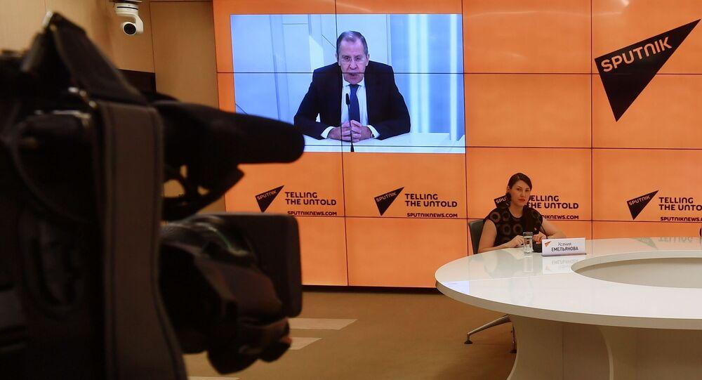 حوار وكالة سبوتنيك مع وزير الخارجية الروسي سيرغي لافروف، موسكو، روسيا 17 سبتمبر 2020
