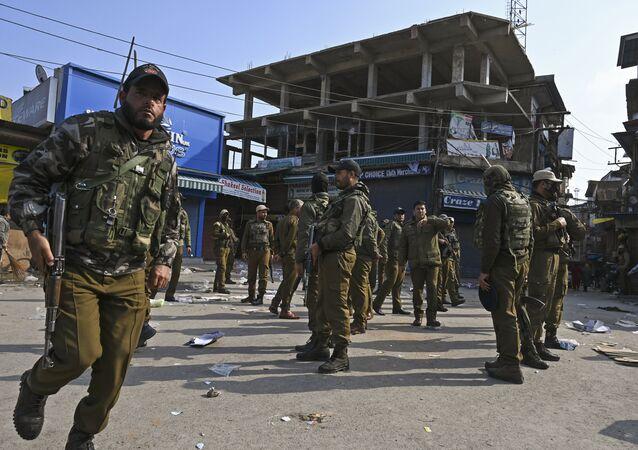 الشرطة الهندية في سريناغار
