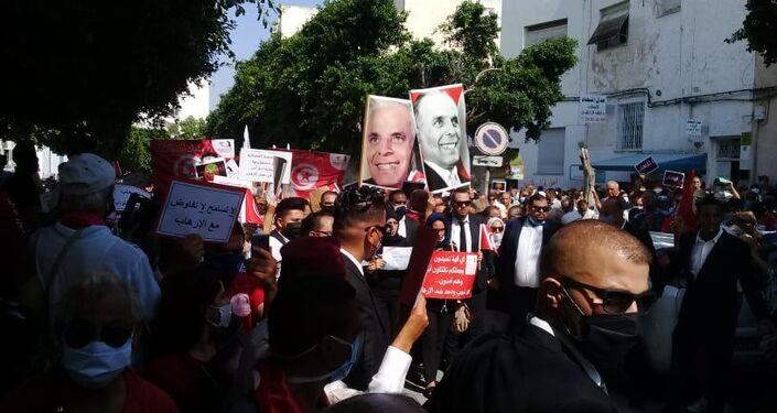 مسيرة مناهضة للإرهاب في تونس