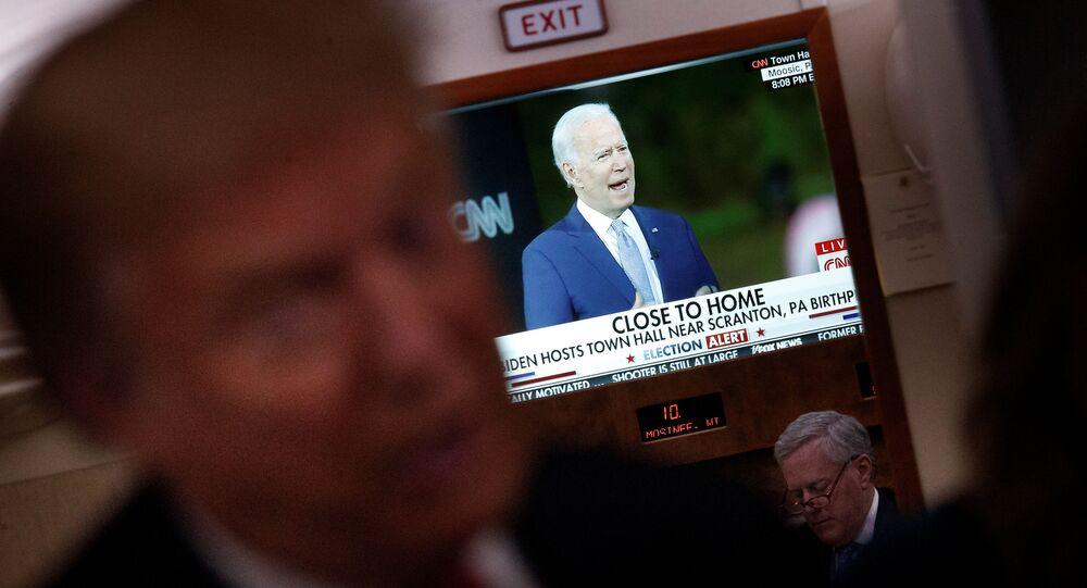 المرشح الديموقراطي لانتخابات الرئاسة الأمريكية جو بايدن و الرئيس دونالد ترامب
