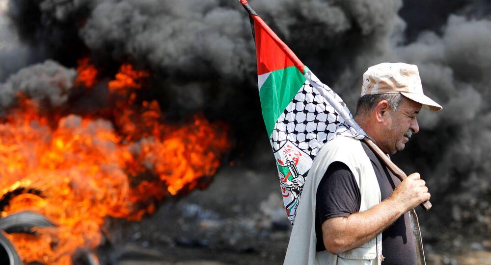 احتجاجات ضد تطبيع العلاقات بين إسرائيل و دول الخليج، الضفة الغربية 18 سبتمبر 2020