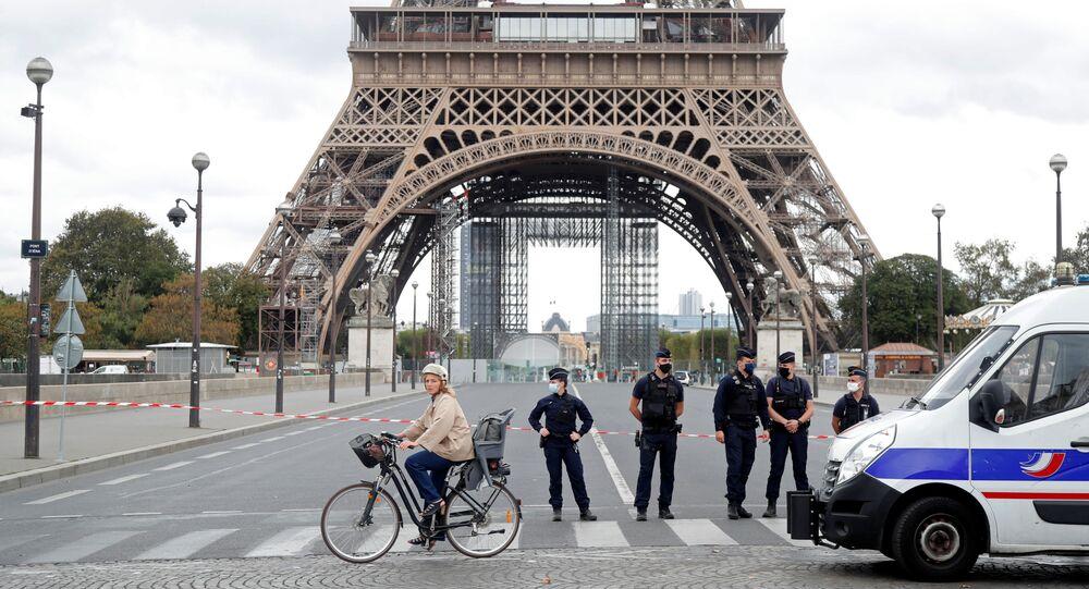 إخلاء برج إيفل بسبب تهديد بوجود قنبلة، 23 سبتمبر 2020