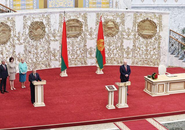 تنصيب الرئيس البيلاروسي ألكسندر لوكاشينكو