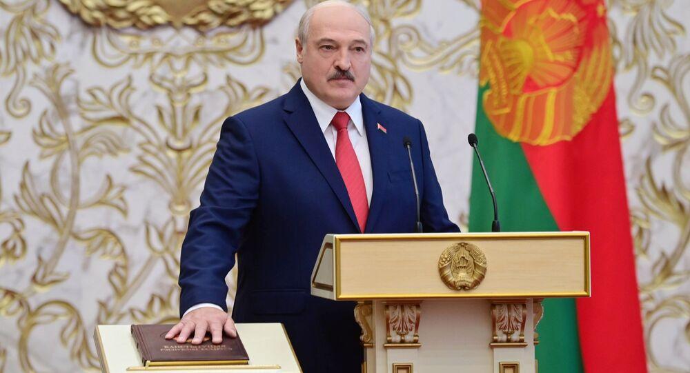 تنصيب الرئيس البيلاروسي ألكسندر لوكاشينكو، ميسنك، بيلاروسيا 23 سبتمبر 2020