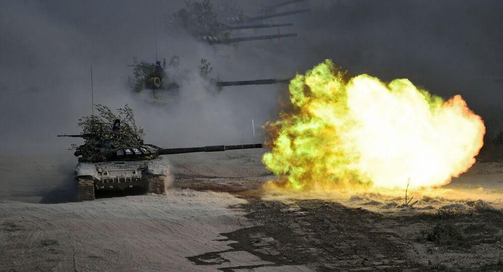 الدبابة تي-72 في مناورات قوقاز 2020، 21 سبتمبر 2020