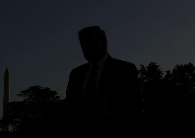 الرئيس الأمريكي ترامب يغادر البيت الأبيض متوجها إلى ولاية بنسلفانيا من أجل حملته الانتخابية 23 سبتمبر أيلول 2020