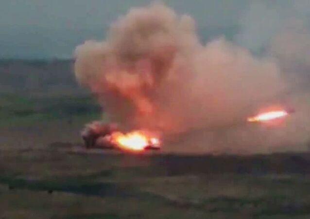 التصاعد العسكري بين أرمينيا و أذربيجان - قوات الجيش الأذربيجاني في منقطة ناغورني قرة باغ، أذربيجان، 28 سبتمبر 2020