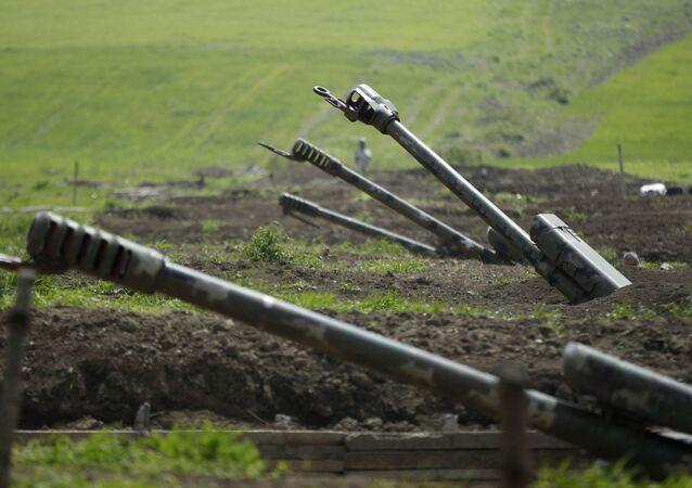 التصاعد العسكري بين أرمينيا و أذربيجان - قوات الجيش الأرمني في منطقة ناغورني قرة باغ، 27 سبتمبر 2020