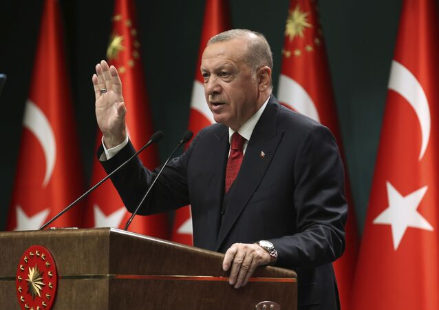 الرئيس التركي رجب طيب أردوغان، تركيا 21 سبتمبر 2020