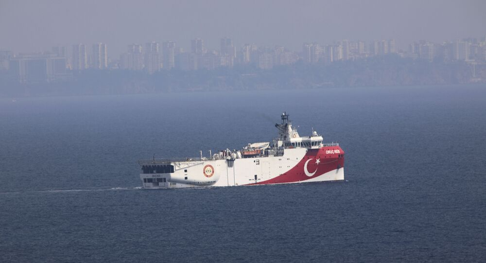 سفينة الأبحاث التركية عروج ريس في البحر المتوسط، تركيا 27 سبتمبر 2020