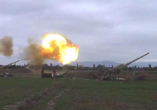 التصاعد العسكري بين أرمينيا و أذربيجان - الجيش الأذري يطلق النار باتجاه الجيش الأرمني في منطقة ناغورني قرة باغ (قره باغ)، 28 سبتمبر 2020