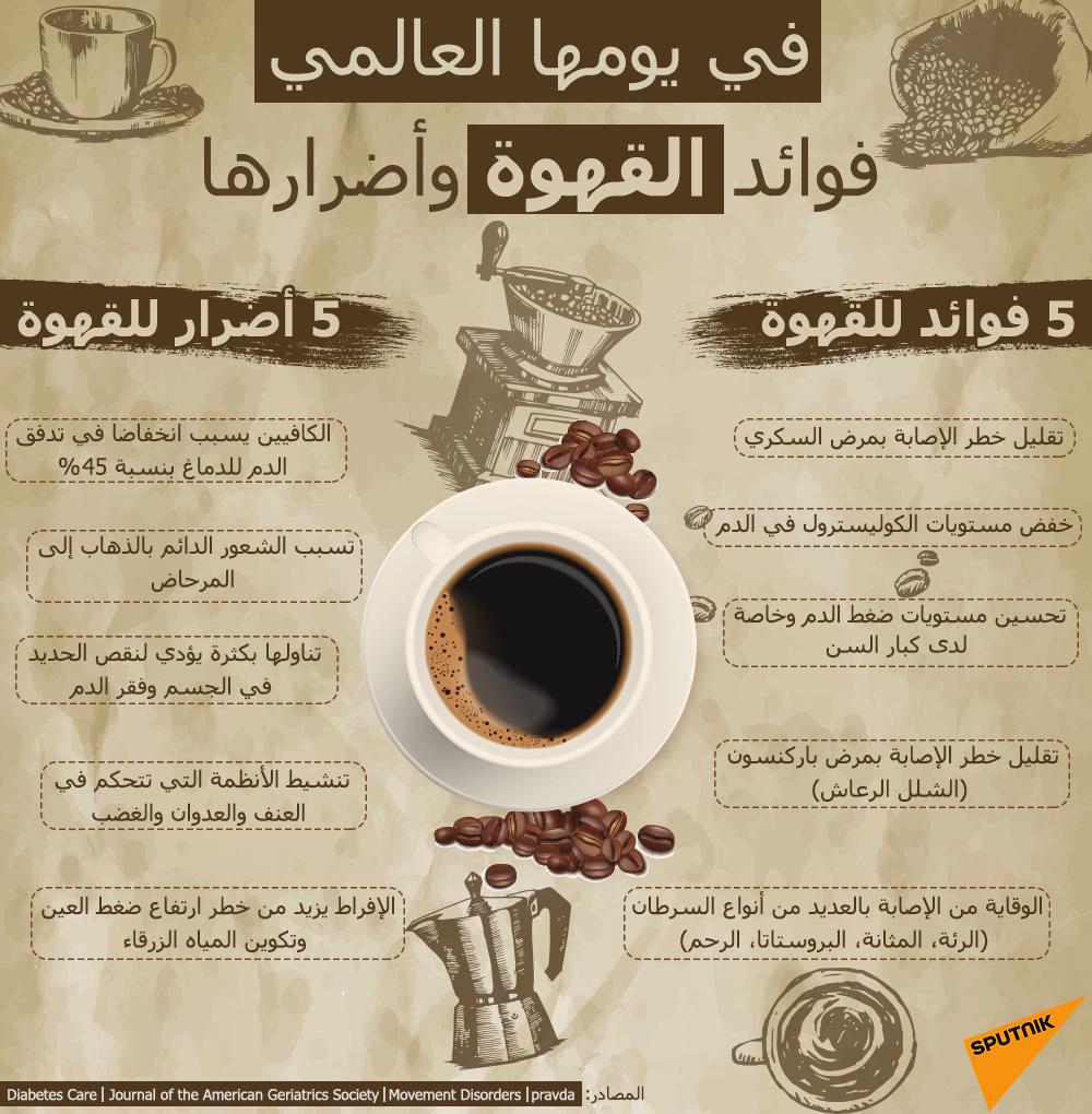 في يومها العالمي.. فوائد القهوة وأضرارها
