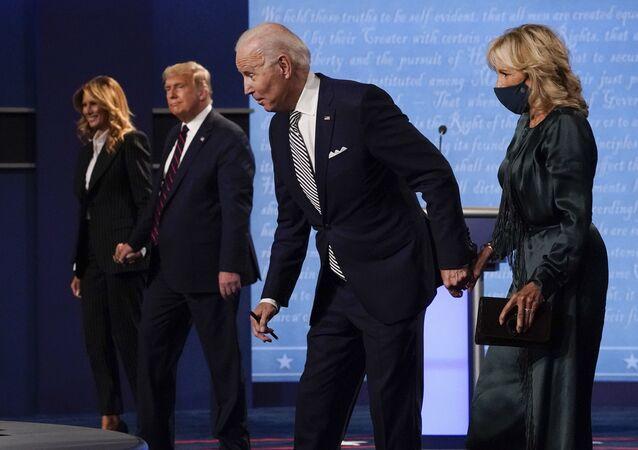 المناظرة الأولى بين مرشحي الرئاسة في الولايات المتحدة دونالد ترامب وجو بايدن