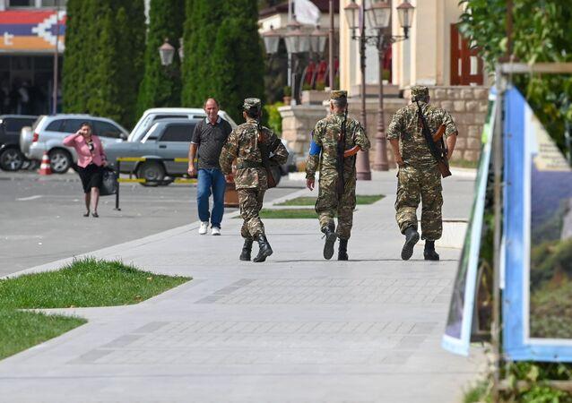 التصعيد العسكري بين أرمينيا وأذربيجان في منطقة ناغورني قره باغ، ستيباناكيرت  29 سبتمبر 2020