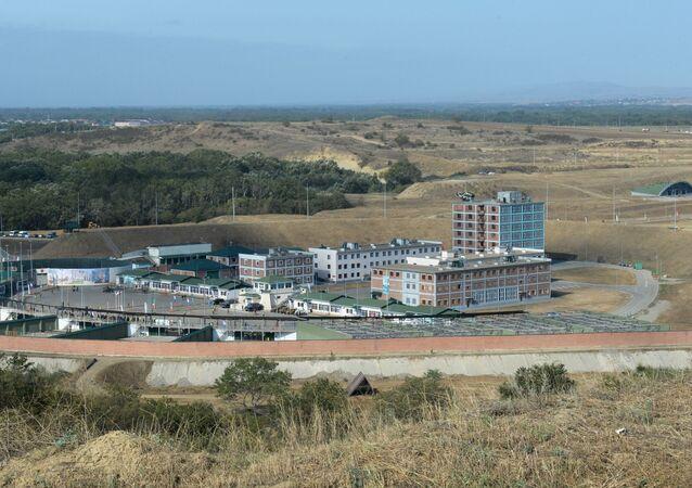 جامعة القوات الخاصة الروسية في غوديرميس، حيث تدري بطولة الشيشان المفتوحة للرماية التكتيكية في نسختها الثامنة بين وحدات القوات العسكرية الشيشانية، الشيشان 28 سبتمبر 2020