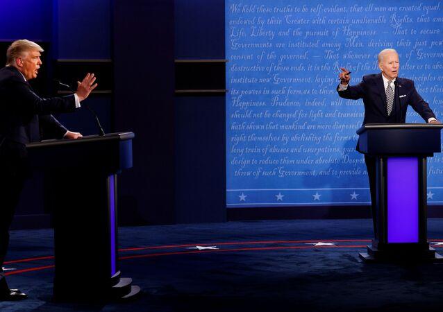 المناظرة الأولى بين مرشحي الرئاسة في الولايات المتحدة، دونالد ترامب و جو بايدن، 30 سبتمبر 2020