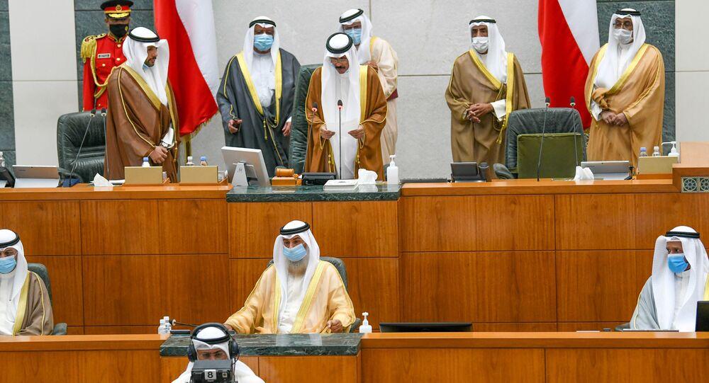 الشيخ نواف الأحمد في مجلس الأمة الكويتي، الكويت  30 سبتمبر 2020